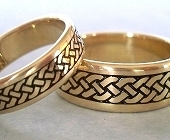 Yellow Gold Celtic Eternity Braid Ring Wedding Bands