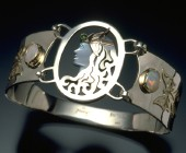 Butterfly Dreams Sterling Silver and Gold Cameo Bracelet