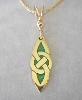 Celtic Eternity Knot Pendant In Gold