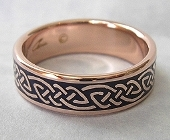 Celtic Bonding Knot Ring in Rose Gold