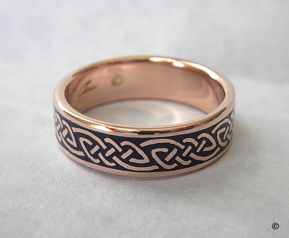 Celtic Bonding Knot Ring in solid Rose Gold