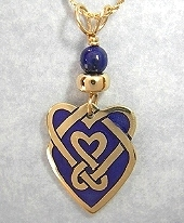Celtic Heart Shield Pendant In Gold