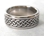 White Gold Celtic Eternity Braid Ring Wedding Band