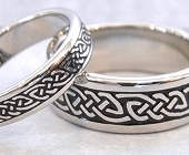 Celtic Bonding Knot Eternity Bands, All White Gold